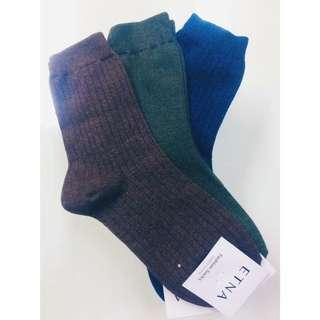 素色襪子三色(可拆賣)