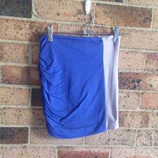 Kookai Purple + Grey Skirt Size 1