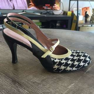 Cute Houndstooth Pumps / Heels Ladies Shoes