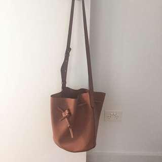 Sports girl Brown Bucket Bag