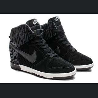 Nike Dunk 內增高 黑斑馬紋增高鞋