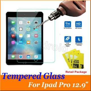 """APPLE IPAD PRO 12.9"""" TEMPERED GLASS SCREEN PROTECTOR FILM 9H HARDNESS 2.5D"""