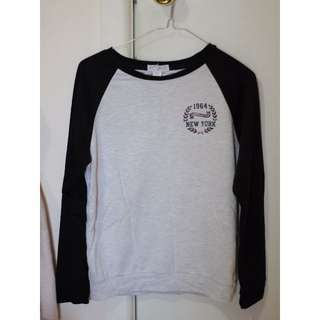 Black & Grey Baseball Shirt