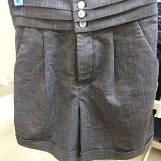 全新✨日貨 西裝高腰短褲
