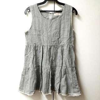 韓版 無袖小短洋裝