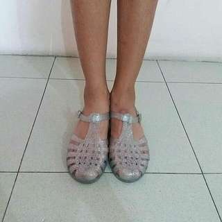 Glittery Transparent Jelly Shoes