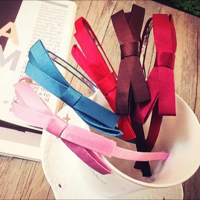 韓風蝴蝶結髮箍