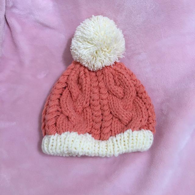 毛線帽(橘)