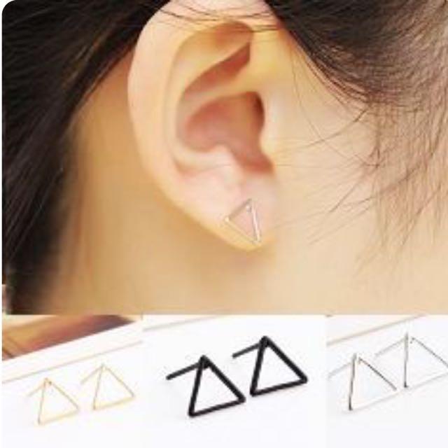 空心三角耳環✨特價