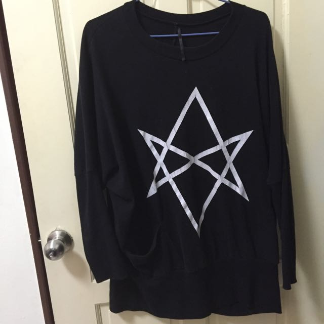長版星星圖樣上衣