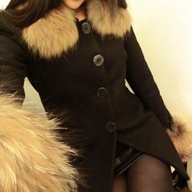 毛領外套 轉賣 全新