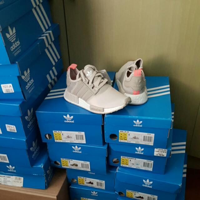 5e3d1eaeaeb16 Adidas NMD R1 Clear Light Brown Sun Glow S75233