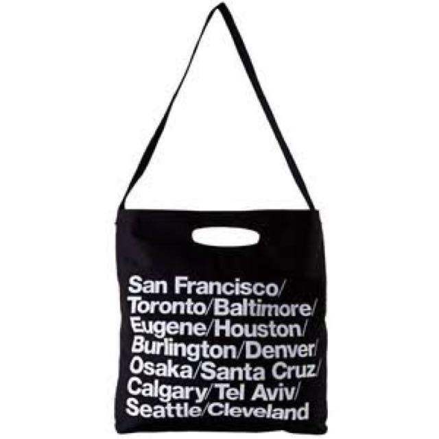 American Apparel Cities Black Tote Bag