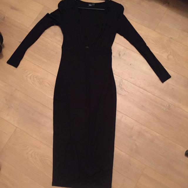 Asos Low Cut Maxi Dress Size 10