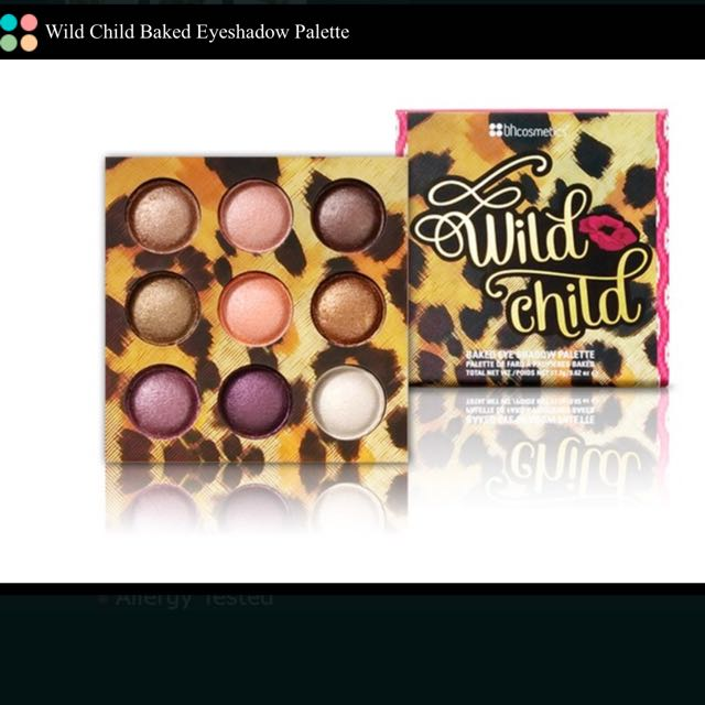 (降)BH Cosmetics #Wild Child Baked Eyeshadow Palette