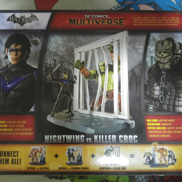 Brand New Sealed Dc Comics Multiverse Nightwing Killer Croc