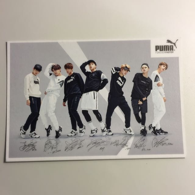 [BTS] Group PUMA Photocard