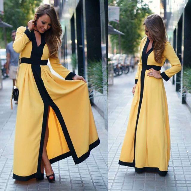Elegant Autumn Winter New Brand Korean OL Elegant Long Sleeve Dress Beading Smart Waist Ruffle Pullover ...