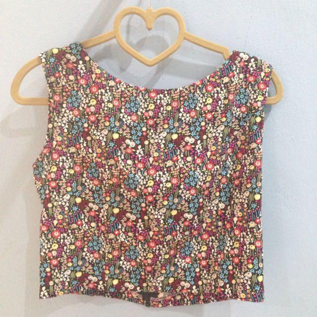 Flower Cotton Crop Top