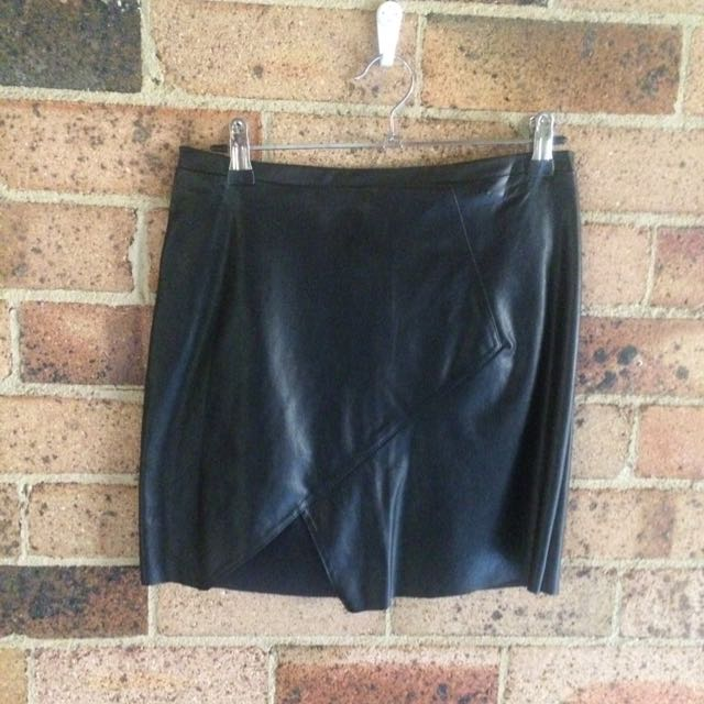 Hello Parry Pleather Skirt