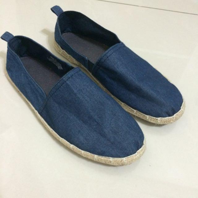 H&M深藍色休閒平底鞋