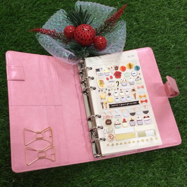 [HOT DEALS] Baby Pink A5/A6 Plain Planner (with button) + Complimentary Planner Goodies