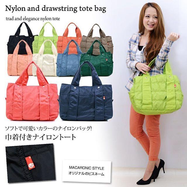 【日本超人氣】Macaronic Style輕量尼龍媽媽包空氣包