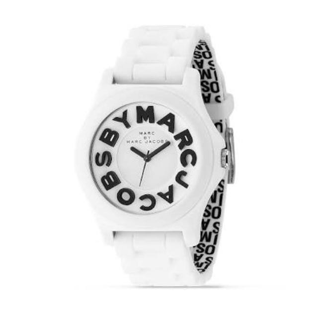 "Marc Jacobs ""Sloane"" White Rubber Watch, 40mm"