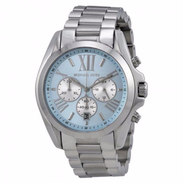 22c8b6fcd2f8 Michael Kors Blue Dial Bradshaw Chronograph Bracelet Watch