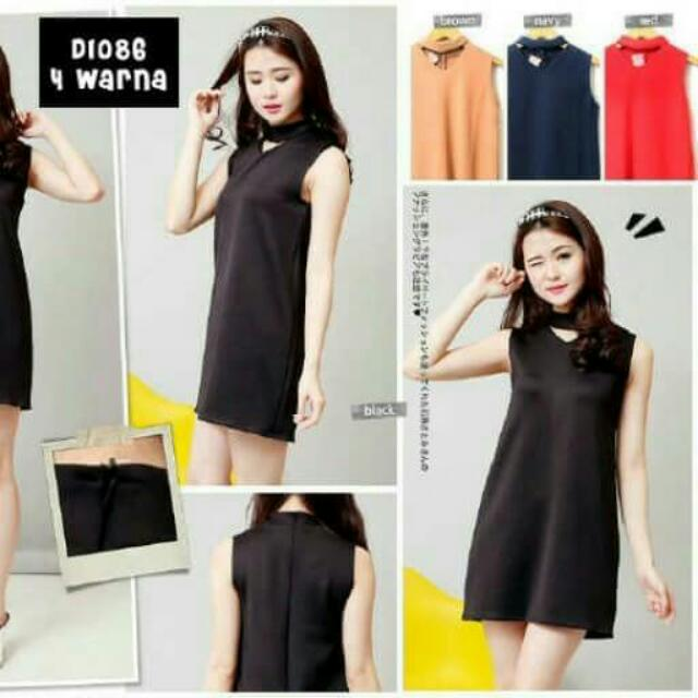 NECKLINE DRESS D1086