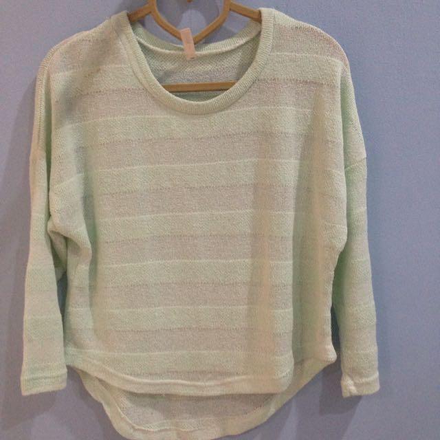 Preloved Mint Sweater