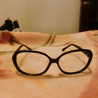 全新黑框無鏡片眼鏡