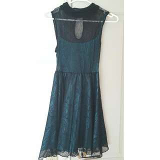 Teal Lace Dress Size S