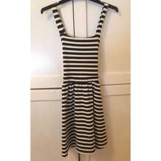 Stripe Pinafore Dress Size 8