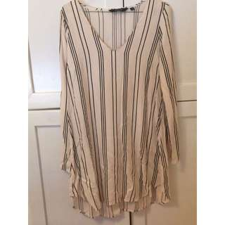 Size 8 Stripe Shirt Dress