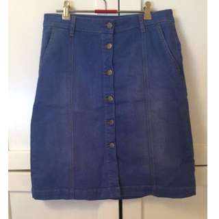 SABA Midi Denim Skirt Size 10