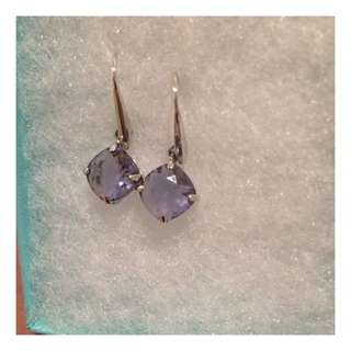 Genuine Swarovski Purple Crystal Drop Earrings