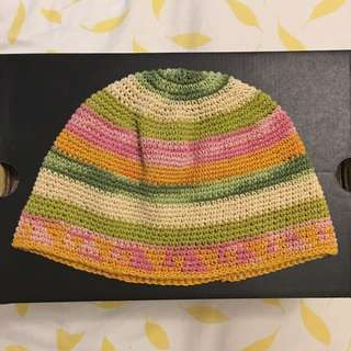彩虹 薄毛帽 毛帽 街頭風