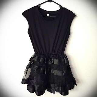 Sleeveless Layered Tulle Mini Dress