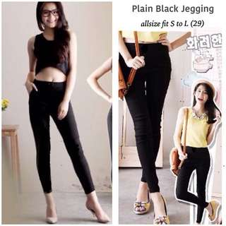 Plain Black Jegging