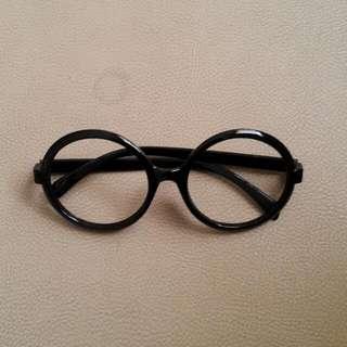 Frame Kacamata Bulat Round Glasses