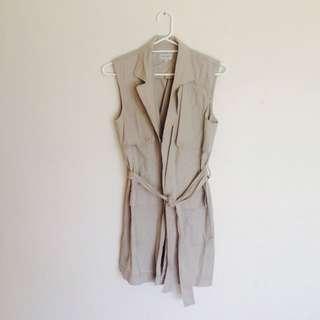 Long Linen Cotton Longline Vest