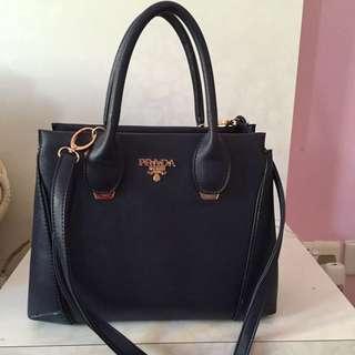 Prada inspired blue Handbag