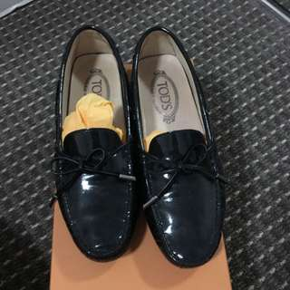 Tods Black Leather Shoes