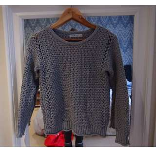 Quirky Circus Grey Knit Jumper - Size 10