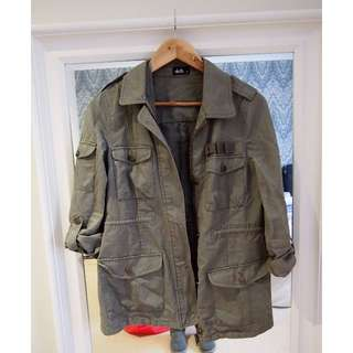 Dotti Kahki Military Jacket - Size 8