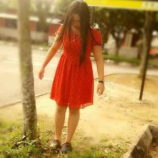 Medi Dress (Red Colour)