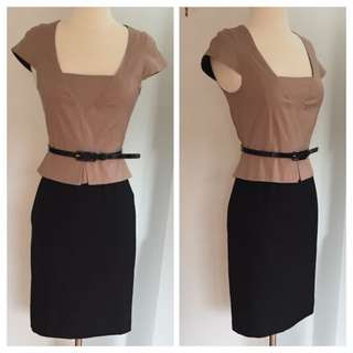 Veronika Maine Peplum Dress. Size 6