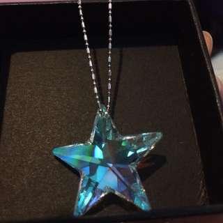 swarovski 水晶 星星 charms 頸鏈