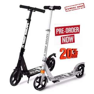 Adult Pro scooter / Adult kick scooter / kick scooter / 2 wheels scooter / 2wheels kick scooter / Value for money / Kick bike / Adult Sports / Scooter / Scooting / Adult outdoor sports / Extreme Sports / Double Suspension Scooter